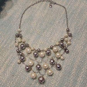 Brighton Silver and Pearl Necklace